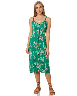 GRASS GREEN WOMENS CLOTHING THE HIDDEN WAY DRESSES - H8201452GRN