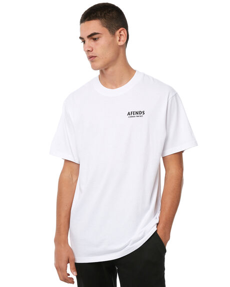 WHITE MENS CLOTHING AFENDS TEES - M182019WHT