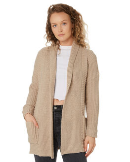 OXFORD TAN WOMENS CLOTHING VOLCOM KNITS + CARDIGANS - B0711975OXF