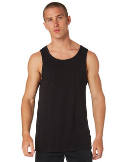 BLACK MENS CLOTHING AS COLOUR SINGLETS - 5007BLK