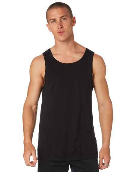 BLACK MENS CLOTHING AS COLOUR SINGLETS - 5007BLK
