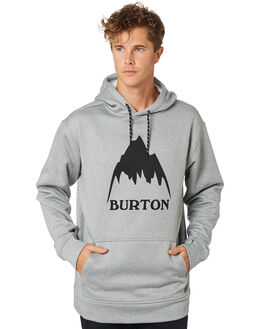 MONUMENT HEATHER MENS CLOTHING BURTON JUMPERS - 16223106020MNHTH