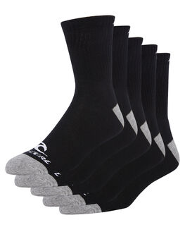 BLACK MENS CLOTHING RIP CURL SOCKS + UNDERWEAR - CSODA10090
