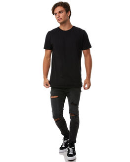 HOWLING BLACK MENS CLOTHING A.BRAND JEANS - 81123B3637