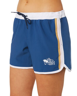DARK BLUE WOMENS CLOTHING RIP CURL SHORTS - GBOEC13155