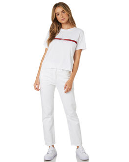 TAPE WHITE WOMENS CLOTHING LEVI'S TEES - 69973-0016WHT