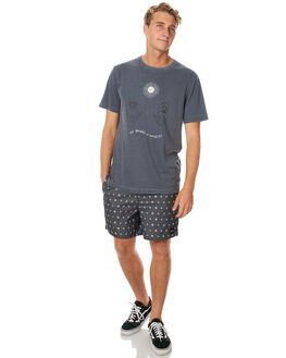 OIL GREY MENS CLOTHING RVCA TEES - R171058OGRY