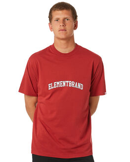 RED MENS CLOTHING ELEMENT TEES - 184011RED