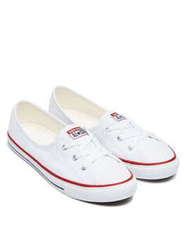 WHITE WOMENS FOOTWEAR CONVERSE SNEAKERS - 566774CWHT