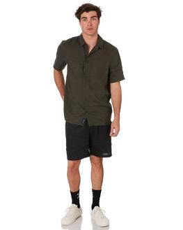 BLACK MENS CLOTHING RPM SHORTS - 9SMB06ABLK