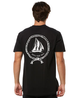BLACK MENS CLOTHING CAPTAIN FIN CO. TEES - CT181046BLK