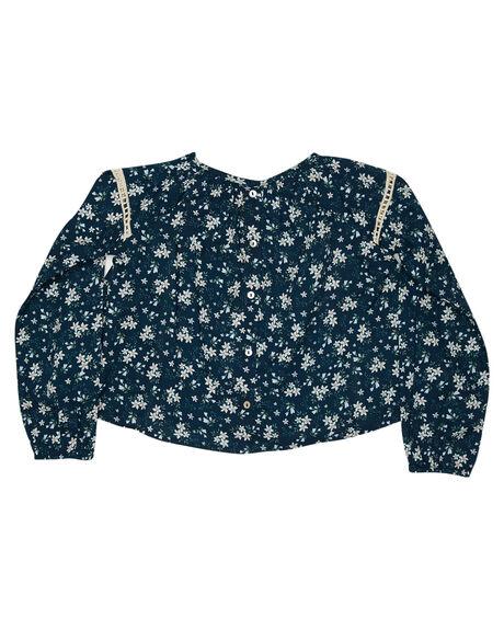 BLUE FLORAL OUTLET KIDS ISLAND STATE CO CLOTHING - LSFLRBLSE-BLUFL