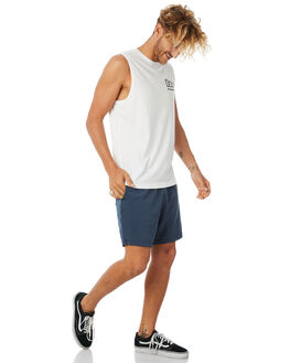 WHITE MENS CLOTHING DEUS EX MACHINA SINGLETS - DMP81566BWHT