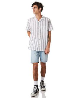 WHITE MENS CLOTHING STUSSY SHIRTS - ST092402WHITE