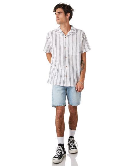 WHITE OUTLET MENS STUSSY SHIRTS - ST092402WHITE