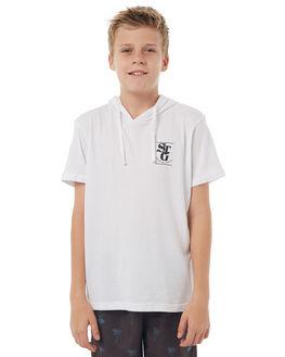 WHITE KIDS BOYS ST GOLIATH TEES - 2402026WHT