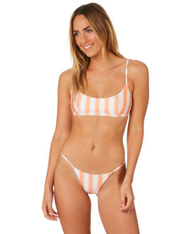 COPPER TAN STRIPE WOMENS SWIMWEAR AFENDS BIKINI SETS - W184702CPR