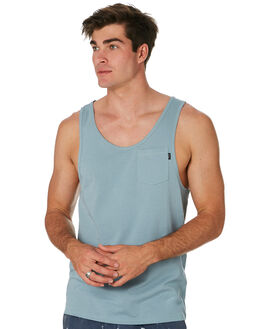 DUSTY BLUE MENS CLOTHING RIP CURL SINGLETS - CTETA23458