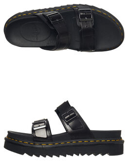 BLACK WOMENS FOOTWEAR DR. MARTENS FASHION SANDALS - SS23523001BLKW