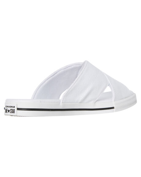 WHITE WOMENS FOOTWEAR CONVERSE SLIDES - 565530CWHT