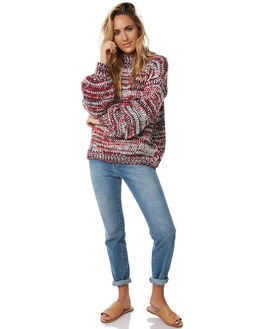 OFF WHITE RED NAVY WOMENS CLOTHING RUE STIIC KNITS + CARDIGANS - S118-107-1MULTI