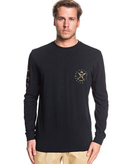 BLACK MENS CLOTHING QUIKSILVER TEES - EQMZT03173-KVJ0