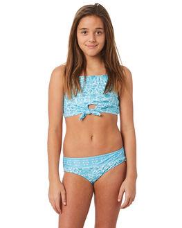 EMERALD BLUE KIDS GIRLS SEAFOLLY SWIMWEAR - 27046EMBLU