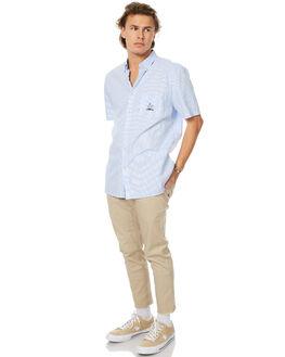 LIGHT BLUE MENS CLOTHING BARNEY COOLS SHIRTS - 308-MC2LTBLU
