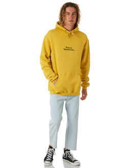 POP YELLOW MENS CLOTHING STUSSY JUMPERS - ST087201PYLW