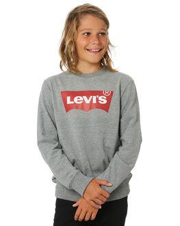 DK GREY HEATHER KIDS BOYS LEVI'S JUMPERS + JACKETS - 38154-0016DGRYH