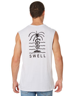 WHITE MENS CLOTHING SWELL SINGLETS - S5182274WHITE