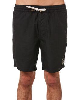 BLACK MENS CLOTHING BARNEY COOLS BOARDSHORTS - 807-CR3BLK