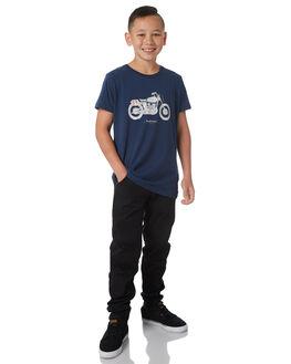 NAVY KIDS BOYS DEUS EX MACHINA TEES - DBW41808TNVY