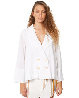 WHITE WOMENS CLOTHING ZULU AND ZEPHYR FASHION TOPS - ZZ1983WHT