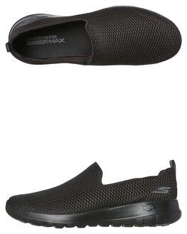BLACK BLACK WOMENS FOOTWEAR SKECHERS SLIP ONS - 15600BBK