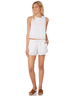 WHITE WOMENS CLOTHING NUDE LUCY SHORTS - NU23475WHT