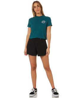 TEAL GREEN WOMENS CLOTHING VOLCOM TEES - B35318V1AST