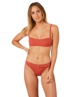 CLAY WOMENS SWIMWEAR SOLID AND STRIPED BIKINI TOPS - WS-1945-1520CLY