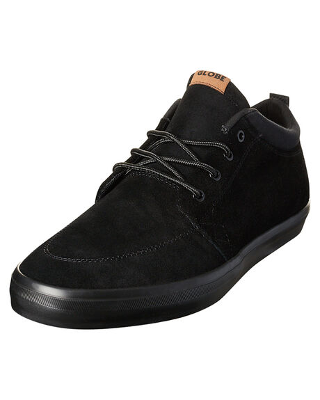 BLACK BLACK MENS FOOTWEAR GLOBE SNEAKERS - GBGSCHUKKA-10006