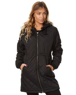 BLACK WOMENS CLOTHING ELEMENT JACKETS - 276457BLK