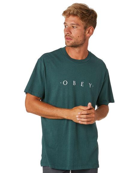 DUSTY DARK TEAL MENS CLOTHING OBEY TEES - 1667215781DDTEA