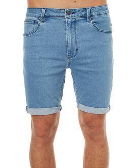 INDIGO BLEACHED MENS CLOTHING A.BRAND SHORTS - 809951038
