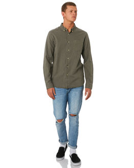 MOSS GREY MENS CLOTHING THRILLS SHIRTS - TW9-201GMSGRY