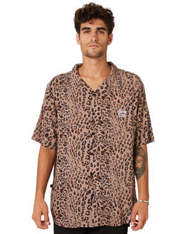 TAN MENS CLOTHING STUSSY SHIRTS - ST093408TAN