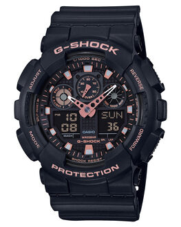 BLACK BLACK GOLD MENS ACCESSORIES G SHOCK WATCHES - GA100GBX-1A4BKGLD
