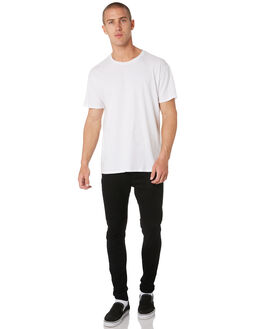 BLACK MENS CLOTHING AFENDS JEANS - 12-01-050BLK
