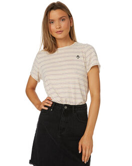 NATURAL STRIPE WOMENS CLOTHING THRILLS TEES - WTS8-115AZNAT