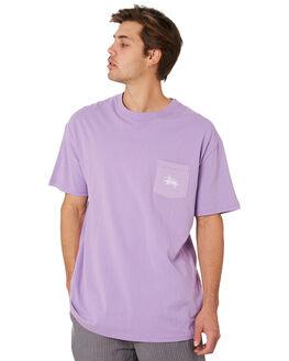 LAVENDER MENS CLOTHING STUSSY TEES - ST092004LAV