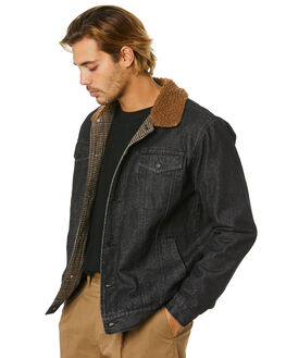 DIRTY BLACK MENS CLOTHING BANKS JACKETS - WJT0065DBL