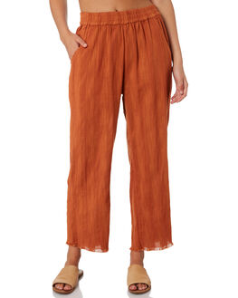 BURNT ORANGE WOMENS CLOTHING RIP CURL PANTS - GPAFD11257